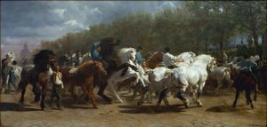 Famous paintings of Clouds & Skyscapes: The Horse Fair