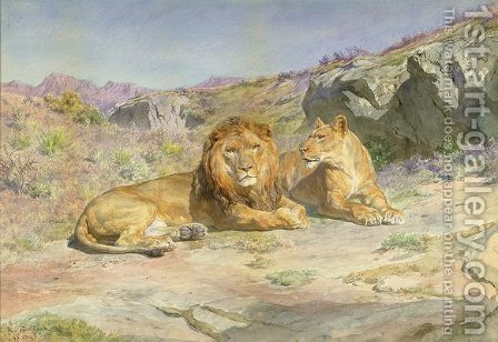 Royalty at Home by Rosa Bonheur - Reproduction Oil Painting