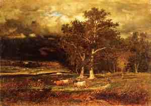 Reproduction oil paintings - George Inness - Approaching Storm