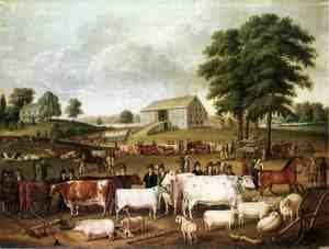 Famous paintings of Horses & Horse Riding: A Pennsylvania Country Fair