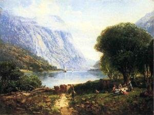 Reproduction oil paintings - Andrew Melrose - The Deleware Water Gap