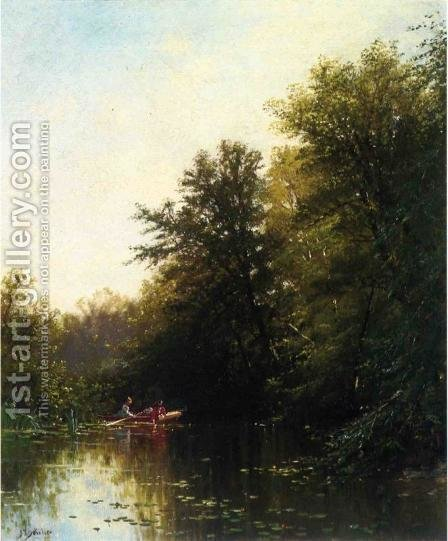 On the Mill Stream by Alfred Thompson Bricher - Reproduction Oil Painting