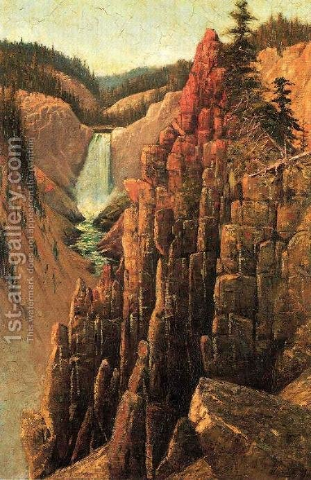 Lower Falls, Yosemite by Grafton Tyler Brown - Reproduction Oil Painting