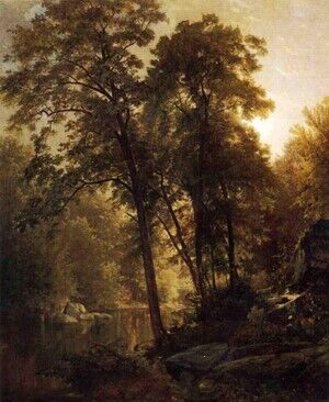 Reproduction oil paintings - William Trost Richards - On the Wissahickon