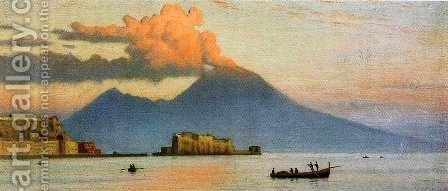 Ernest Wadsworth Longfellow: Vesuvius Before Eruption - reproduction oil painting