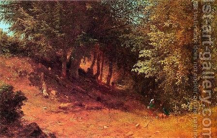 Picnic in a Summer Landscape by Albert (Fitch) Bellows - Reproduction Oil Painting