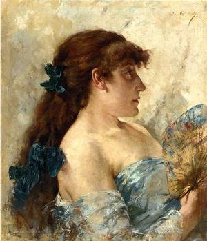 Famous paintings of Fans: Woman with a Fan
