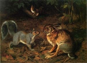 Famous paintings of Squirrels: The Gossips