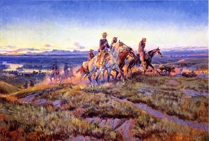 Famous paintings of Horses & Horse Riding: Men of the Open Range