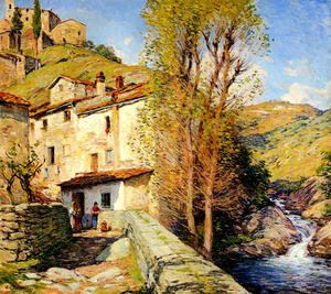 Willard Leroy Metcalf reproductions - Old Mill, Pelago, Italy