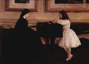 Reproduction oil paintings - James Abbott McNeill Whistler - At the Piano