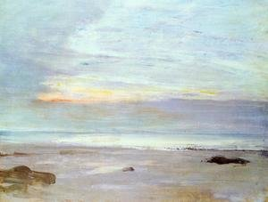 Reproduction oil paintings - James Abbott McNeill Whistler - Crepuscule in Opal: Trouville