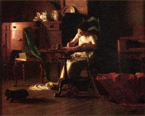 Famous paintings of Teapots: Woman Writing at a Table