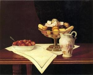 Famous paintings of Desserts: Still Life with Sweets and Strawberries