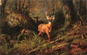 Reproduction oil paintings - Arthur Fitzwilliam Tait - The Adirondacks