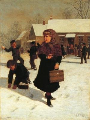 Reproduction oil paintings - Samuel S. Carr - School Days