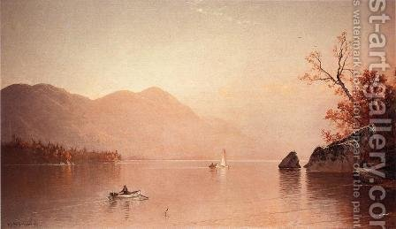 Autumn Mist, Lake George, New York by Alfred Thompson Bricher - Reproduction Oil Painting