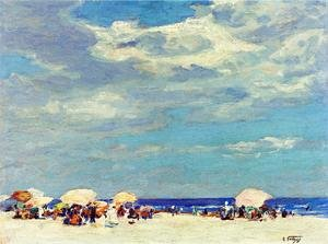Famous paintings of Parasols and Umbrellas: Beach Scene II