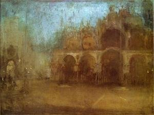 Reproduction oil paintings - James Abbott McNeill Whistler - Nocturne: Blue and Gold - St Mark's, Venice