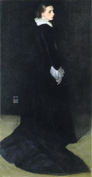 Reproduction oil paintings - James Abbott McNeill Whistler - Arrangement in Black, No. 2: Portrait of Mrs. Louis Huth