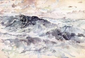 Reproduction oil paintings - James Abbott McNeill Whistler - Arrangement in Blue and Silver - The Great Sea