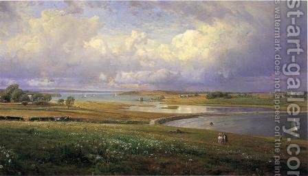 William Trost Richards: Mackerel Cove, Jamestown, Rhode Island - reproduction oil painting