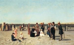 Reproduction oil paintings - Samuel S. Carr - Beach Scene
