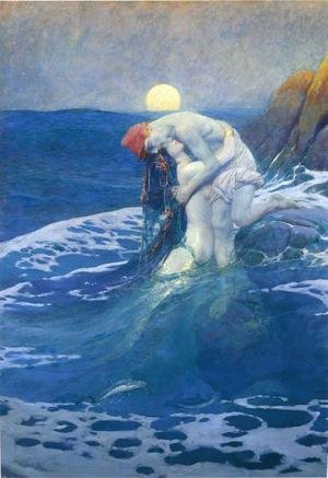 Famous paintings of Fantasy, Mythology, Sci-Fi: The Mermaid