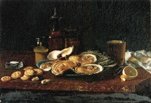 Famous paintings of Desserts: Still Life: Oysters on the Half Shell