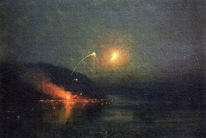 Famous paintings of Fireworks: Fireworks across the Potomac