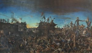 Famous paintings of Soldiers: Dawn at the Alamo