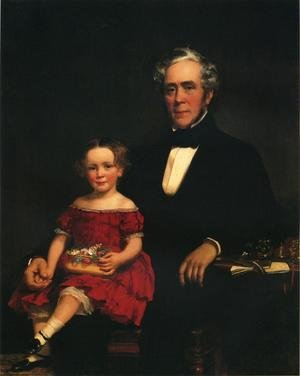 Famous paintings of Portraits: Portrait of a Young Girl and Older Man