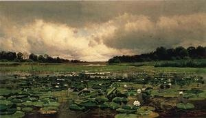 Famous paintings of Clouds & Skyscapes: The Lily Pond
