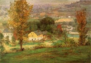 Famous paintings of Villages: In the Whitewater Valley