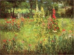 Charmant Famous Paintings Of Gardens: Hollyhocks And Poppies   The Hermitage