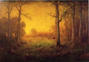 Reproduction oil paintings - George Inness - Rural Landscape