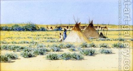 Indian Encampment I by Henry Farny - Reproduction Oil Painting