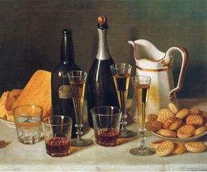 Famous paintings of Desserts: Still Life: Cognac and Biscuits