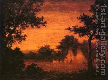 Ralph Albert Blakelock: The Golden Hour - reproduction oil painting
