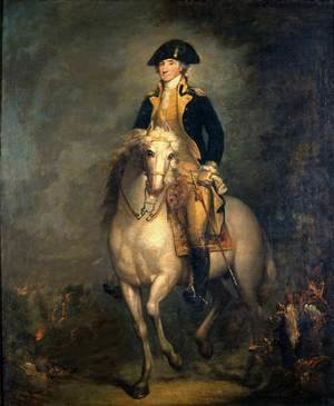 Famous paintings of Horses & Horse Riding: Equestrian Portrait of George Washington