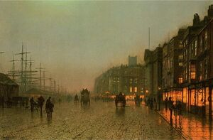 Famous paintings of Transportation: Liverpool from Wapping
