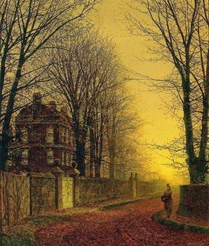 Famous paintings of Landscapes: Autumn Gold