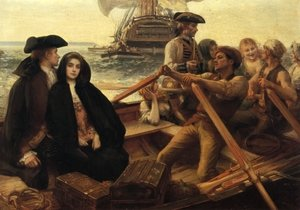 Reproduction oil paintings - Albert Lynch - Embarking on a Voyage