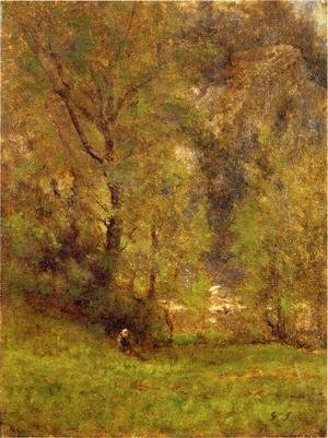 Reproduction oil paintings - George Inness - Near the Delaware Water Gap