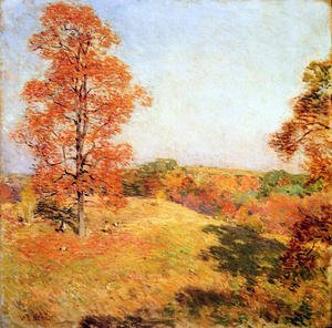 Reproduction oil paintings - Willard Leroy Metcalf - Nut Gathering