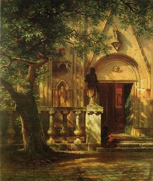 Reproduction oil paintings - Albert Bierstadt - Sunlight and Shadow