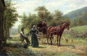 Reproduction oil paintings - Edward Lamson Henry - An Informal Call