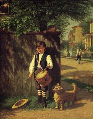 Reproduction oil paintings - Samuel S. Carr - Little Drummer Boy