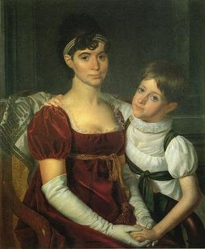 Reproduction oil paintings - Rembrandt Peale - Alida Livingston Armstrong and Daughter