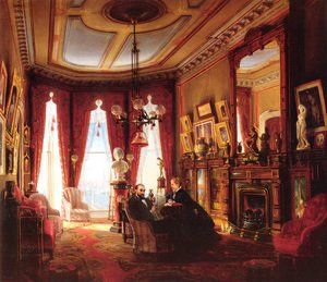 Famous paintings of Furniture: Parlor on Brooklyn Heights of Mr. and Mrs. John Ballard